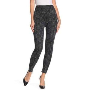 Socialite SM Charcoal Ruched Animal Print Leggings